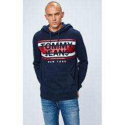 Tommy Jeans - Bluza. Szare bluzy męskie rozpinane marki Tommy Jeans, m, z nadrukiem, z bawełny, z kapturem. W wyprzedaży za 279,90 zł.