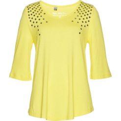 Bluzki, topy, tuniki: Tunika z cekinami bonprix jasna limonka