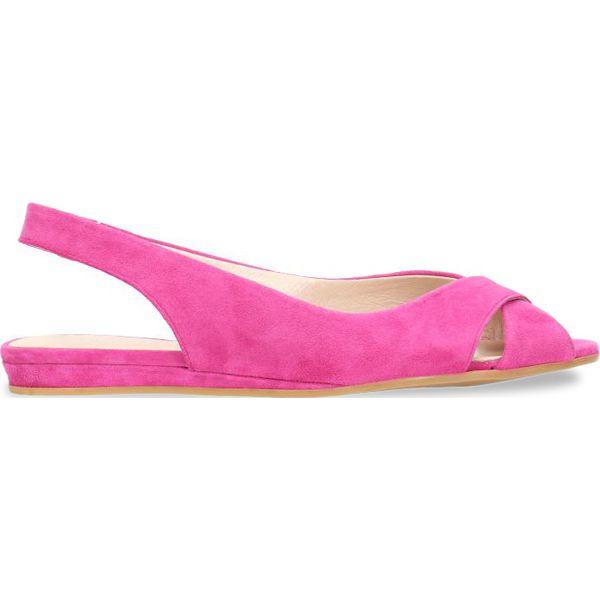 681bb93326b81 Sandały ROSITA - Różowe sandały damskie Gino Rossi, w paski, ze ...