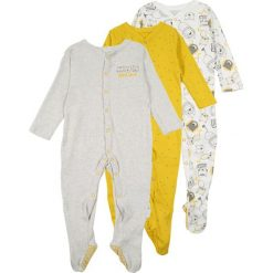 Mothercare BOYS WILD ONE SLEEPSUIT BABY 3 PACK Piżama mustard. Niebieskie bielizna chłopięca marki mothercare, z bawełny. Za 129,00 zł.