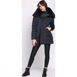 Granatowa Kurtka Back in Black. Czarne kurtki damskie pikowane Born2be, na zimę, l, z puchu. Za 189,99 zł.