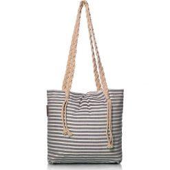 """Torba plażowa """"Eos"""" w kolorze brązowym - 40 x 50 cm. Brązowe shopper bag damskie Begonville, z bawełny. W wyprzedaży za 108,95 zł."""