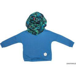 Bluzy chłopięce rozpinane: Bluza Blue Dark Leaves by ALEOSA