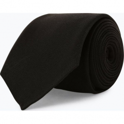 Andrew James - Krawat jedwabny męski, czarny. Szare krawaty męskie marki Top Secret, eleganckie. Za 129,95 zł.