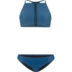 Bikini z biustonoszem bustier (2 części) bonprix niebieskozielony. Niebieskie bikini bonprix. Za 59,99 zł.