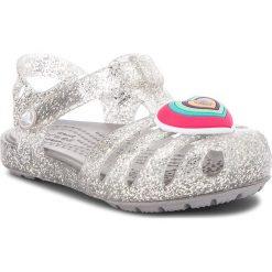 Sandały dziewczęce: Sandały CROCS – Isabella Novelty Sandal 205038  Silver