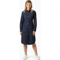 Polo Ralph Lauren - Sukienka damska, niebieski. Niebieskie sukienki z falbanami Polo Ralph Lauren, s, z jeansu, polo, z długim rękawem. Za 899,95 zł.