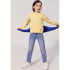 Rurki dziewczęce: Mango Kids - Jeansy dziecięce Caroline 110-164 cm