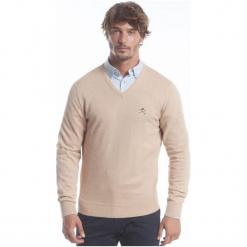 Polo Club C.H..A Sweter Męski M Beżowy. Brązowe swetry klasyczne męskie marki Polo Club C.H..A, m, dekolt w kształcie v. W wyprzedaży za 259,00 zł.