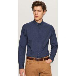 Koszula we wzory - Granatowy. Niebieskie koszule męskie Reserved, m. Za 79,99 zł.