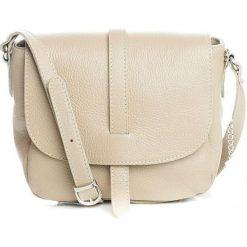 Torebki klasyczne damskie: Skórzana torebka w kolorze szarobrązowym – 24 x 9 x 20 cm
