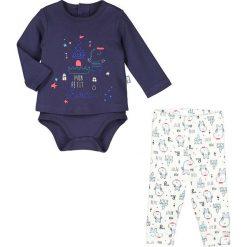 Spodnie niemowlęce: 2-częściowy zestaw w kolorze granatowo-białym