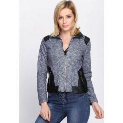 Granatowa Bluza American Dream. Czerwone bluzy rozpinane damskie marki KALENJI, z elastanu, z krótkim rękawem, krótkie. Za 44,99 zł.