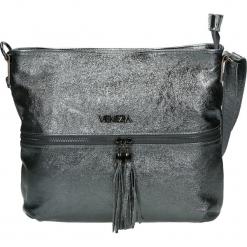 Torba - 35-618B-O L A. Szare torebki klasyczne damskie Venezia, w paski, ze skóry. Za 299,00 zł.