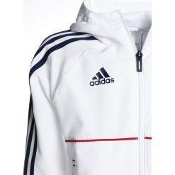 Adidas Performance FC BAYERN MÜNCHEN Artykuły klubowe white/conavy. Białe kurtki sportowe damskie adidas Performance, m, z materiału. Za 299,00 zł.
