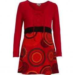 Tunika w kolorze czerwonym. Czerwone tuniki damskie Kéawa, s, z okrągłym kołnierzem. W wyprzedaży za 78,95 zł.