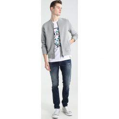 T-shirty męskie z nadrukiem: Knowledge Cotton Apparel OWL Tshirt z nadrukiem bright white