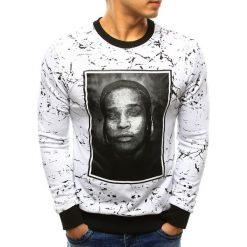 Bluzy męskie: Bluza męska z nadrukiem biała (bx3283)