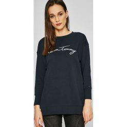 Tommy Hilfiger - Bluza. Czarne bluzy rozpinane damskie TOMMY HILFIGER, s, z aplikacjami, z bawełny, bez kaptura. W wyprzedaży za 329,90 zł.