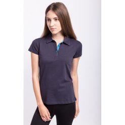 Bluzki sportowe damskie: Koszulka polo damska TSD050z - granatowy