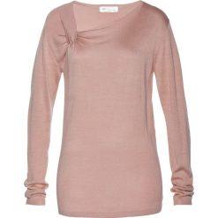 Swetry klasyczne damskie: Sweter bonprix stary jasnoróżowy