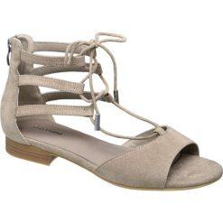 Sandały damskie Graceland beżowe. Czarne sandały trekkingowe damskie marki Graceland, w kolorowe wzory, z materiału. Za 79,90 zł.