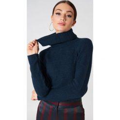 Trendyol Sweter z wywijanym golfem - Navy. Niebieskie golfy damskie Trendyol, z dzianiny. Za 80,95 zł.