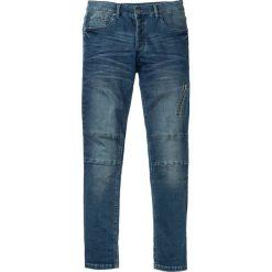 """Dżinsy dresowe Skinny Fit Straight bonprix Niebieski """"stone"""" Used. Niebieskie jeansy męskie relaxed fit bonprix, z dresówki. Za 139,99 zł."""