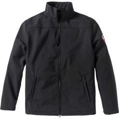Kurtka softshell Regular Fit bonprix czarny. Czarne kurtki męskie marki Engine, xxl, z aplikacjami, z bawełny, klasyczne. Za 179,99 zł.