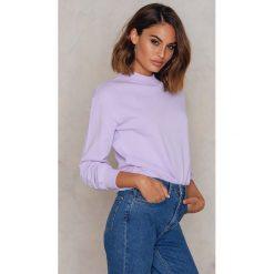NA-KD Basic Bluza basic - Purple. Różowe bluzy damskie marki NA-KD Basic, prążkowane. W wyprzedaży za 50,48 zł.