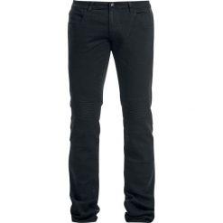 Rock Rebel by EMP Biker Knee Jared (Slim Fit) Jeansy czarny. Czarne jeansy męskie regular Rock Rebel by EMP, z aplikacjami, z jeansu. Za 79,90 zł.