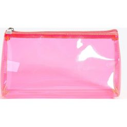 Kosmetyczki damskie: Transparentna kosmetyczka - Różowy