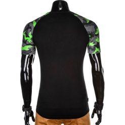 T-SHIRT MĘSKI Z NADRUKIEM MORO S1013 - CZARNY/SZARY. Czarne t-shirty męskie z nadrukiem Ombre Clothing, m. Za 35,00 zł.