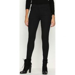 Spodnie damskie: Czarne Spodnie Double Point