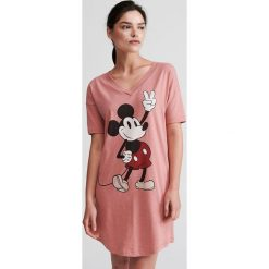 e40882d34d3187 Koszula nocna z bawełny organicznej - Różowy. Różowe piżamy damskie Reserved,  s, bez