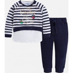 Mayoral - Komplet dziecięcy (bluza + spodnie) 98-134 cm. Różowe bluzy dziewczęce rozpinane marki Mayoral, z bawełny, z okrągłym kołnierzem. Za 169,90 zł.