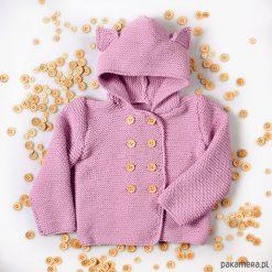 Swetry rozpinane damskie: Sweter Kotek Merynos Dziecięcy
