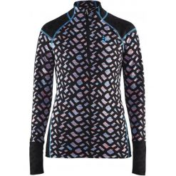 Bluzy rozpinane damskie: Craft Bluza Termoaktywna Nordic Wool Twisted Zip Black L