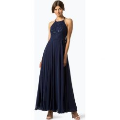 Marie Lund - Damska sukienka wieczorowa, niebieski. Niebieskie sukienki hiszpanki Marie Lund, w koronkowe wzory, z koronki, wizytowe. Za 699,95 zł.