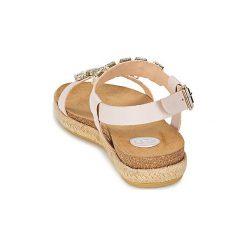 Sandały RAS  LILIA. Białe sandały damskie marki Dstreet, z aplikacjami, eleganckie. Za 543,20 zł.