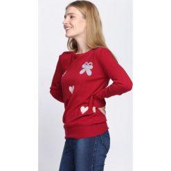Bordowy Sweter Ohh Why?. Czerwone swetry klasyczne damskie Born2be, l, z okrągłym kołnierzem. Za 59,99 zł.