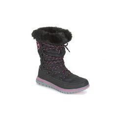 Śniegowce Kangaroos  K WOWI HUN. Czarne buty zimowe damskie KangaROOS. Za 309,00 zł.