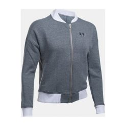 Bluzy sportowe damskie: Under Armour Bluza damska Threadborne Fleece Bomber szaro-biała r. S (1298590-008)
