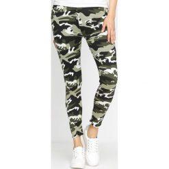 Spodnie damskie: Zielone-Moro Legginsy Do Good