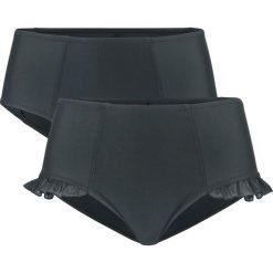 Figi bikini shape (2 pary) bonprix czarny + czarny. Białe bikini marki Reserved, m. Za 89,98 zł.