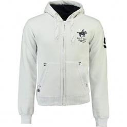 """Bluza """"Gampai"""" w kolorze białym. Białe bluzy męskie Geographical Norway Men, m, z haftami, prążkowane. W wyprzedaży za 136,95 zł."""
