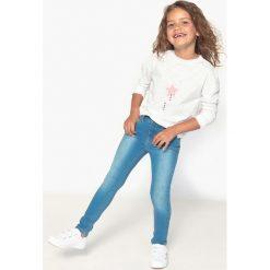 Jeansy skinny 3-12 lat. Niebieskie jeansy dziewczęce La Redoute Collections, z bawełny, z standardowym stanem. Za 70,52 zł.