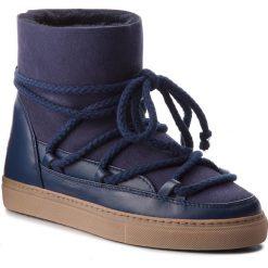 Buty INUIKII - Sneaker Classic 70202-5 D'Blue. Niebieskie buty zimowe damskie Inuikii, ze skóry, na niskim obcasie. Za 1049,00 zł.
