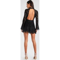Sukienki hiszpanki: Missguided HIGH NECK CUT OUT BACK LONG SLEEVE LAYERED MINI DRESS Sukienka koktajlowa black