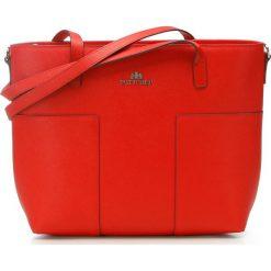 Torebka damska 86-4E-429-3. Czerwone shopper bag damskie marki Wittchen, w paski, z tłoczeniem. Za 399,00 zł.